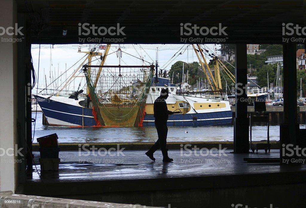Fishing Docks stock photo