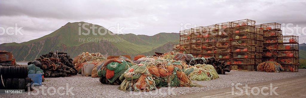 Fishing Equipment, Dutch Harbor, Alaska stock photo