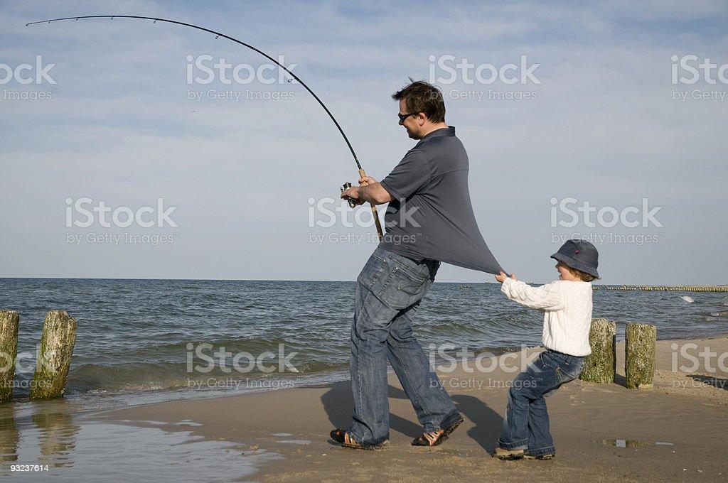 Fishing family royalty-free stock photo
