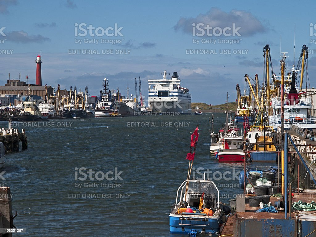 Fishing fleet of IJmuiden royalty-free stock photo