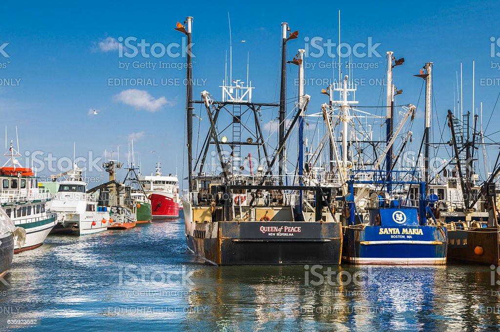 Fishing Fleet Reflectkions stock photo