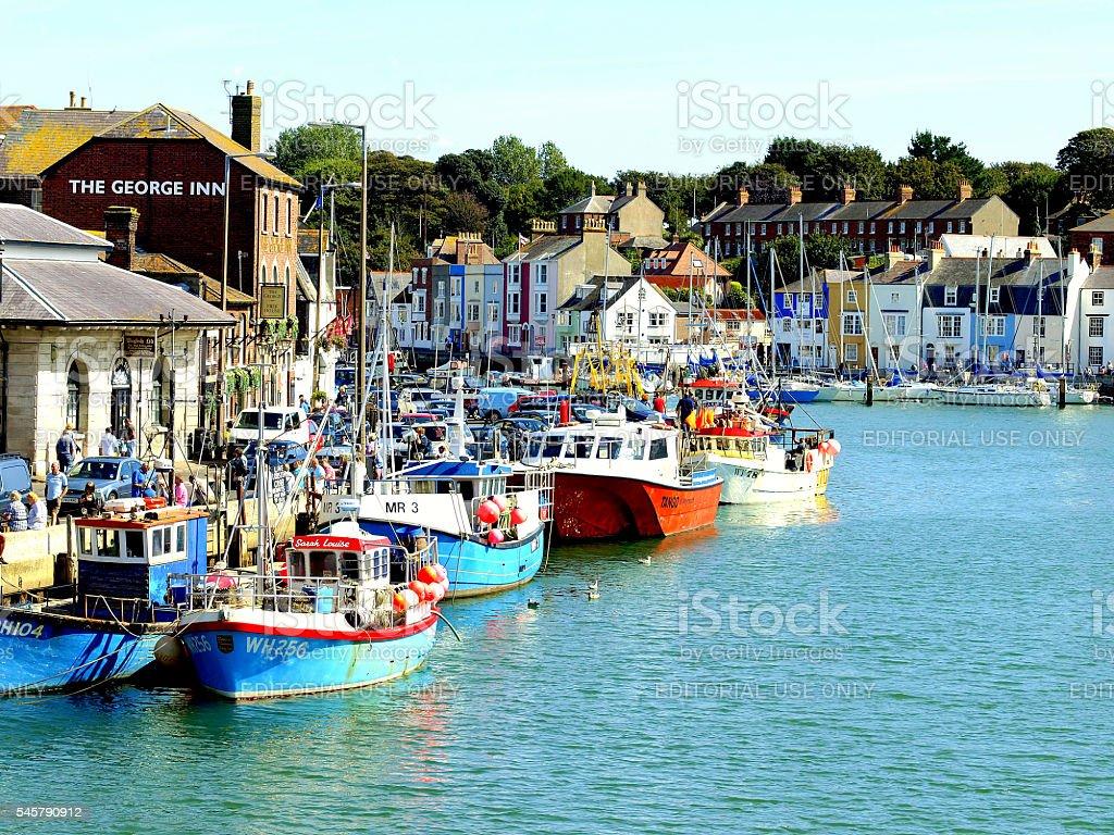 Fishing fleet, Weymouth, Dorset. stock photo