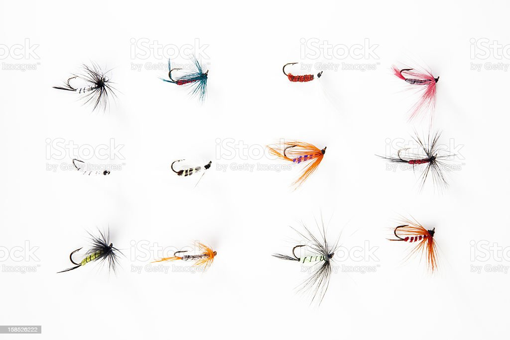 Fishing flies stock photo