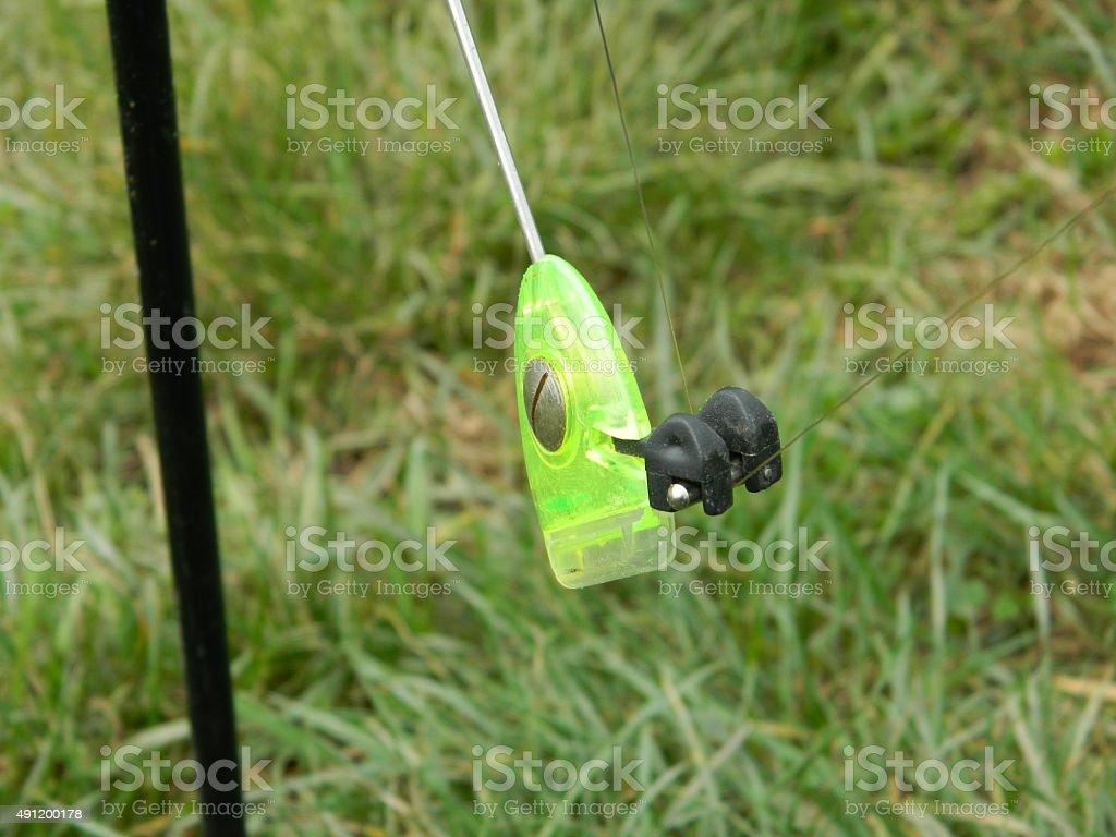 Fishing fluorescent gear stock photo