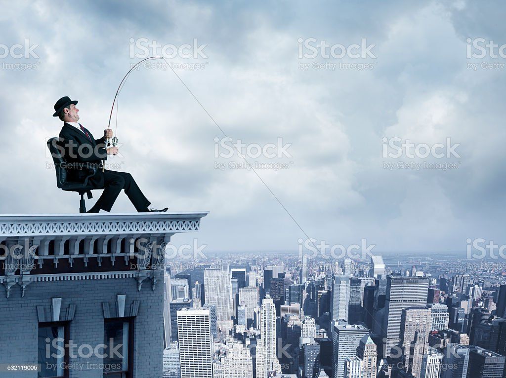 Fishing For Business stock photo