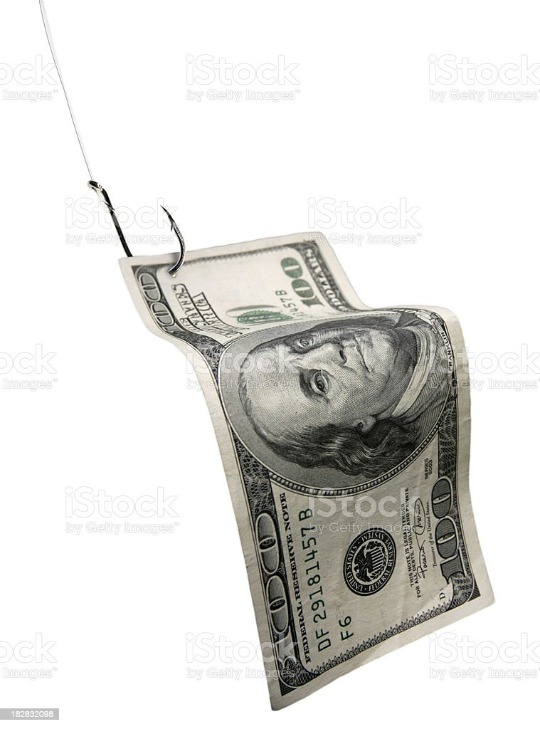 Fishing For Money stock photo