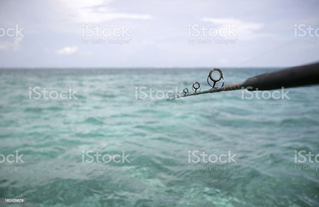 Fishing for nothing stock photo