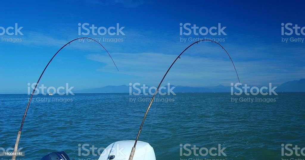 Fishing for salmon royalty-free stock photo