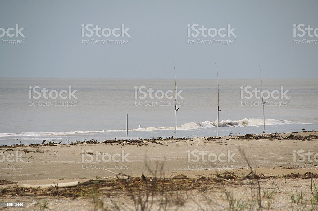 Fishing - Grand Isle, Louisiana stock photo