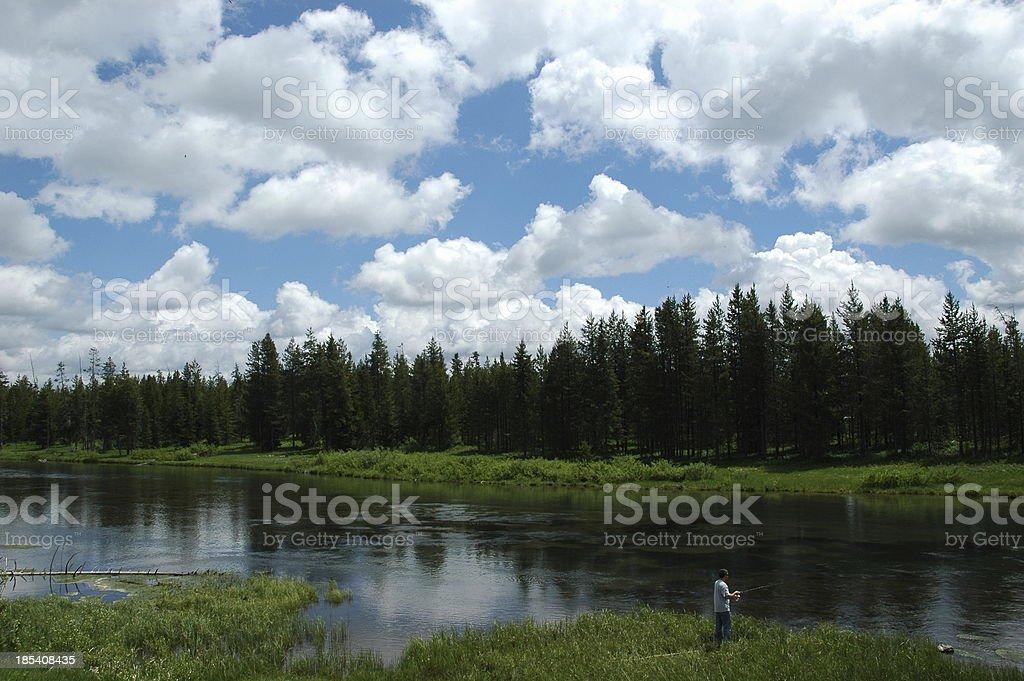 Fishing Heaven royalty-free stock photo