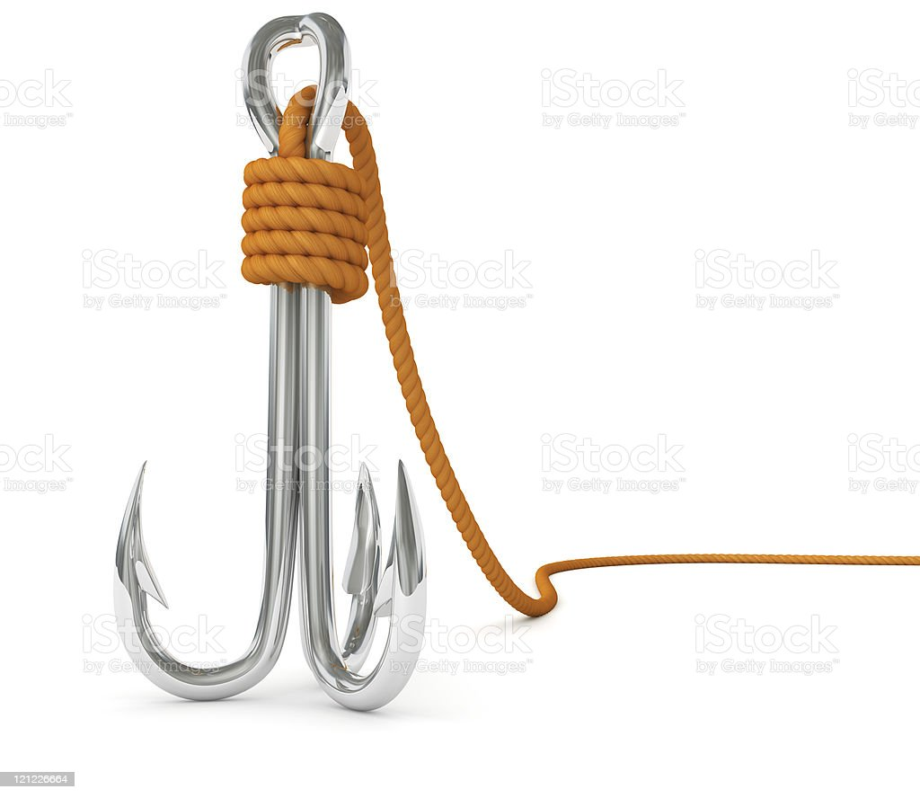 Fishing hook royalty-free stock photo