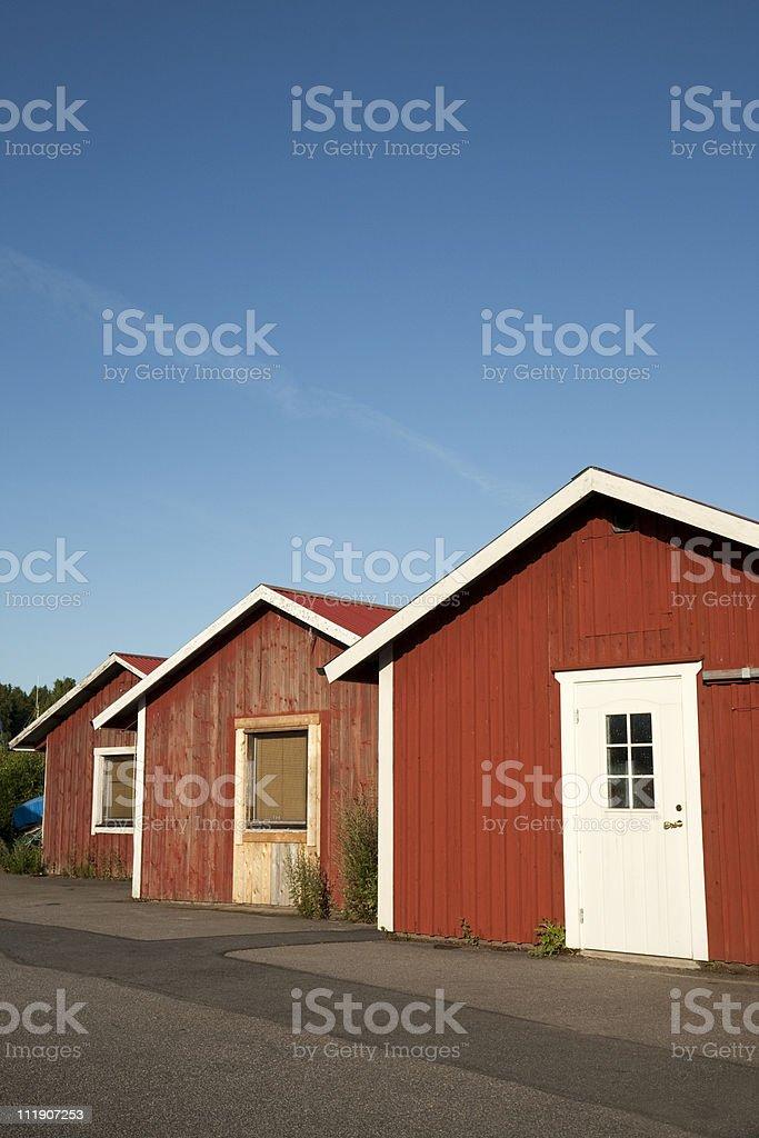 Fishing huts stock photo