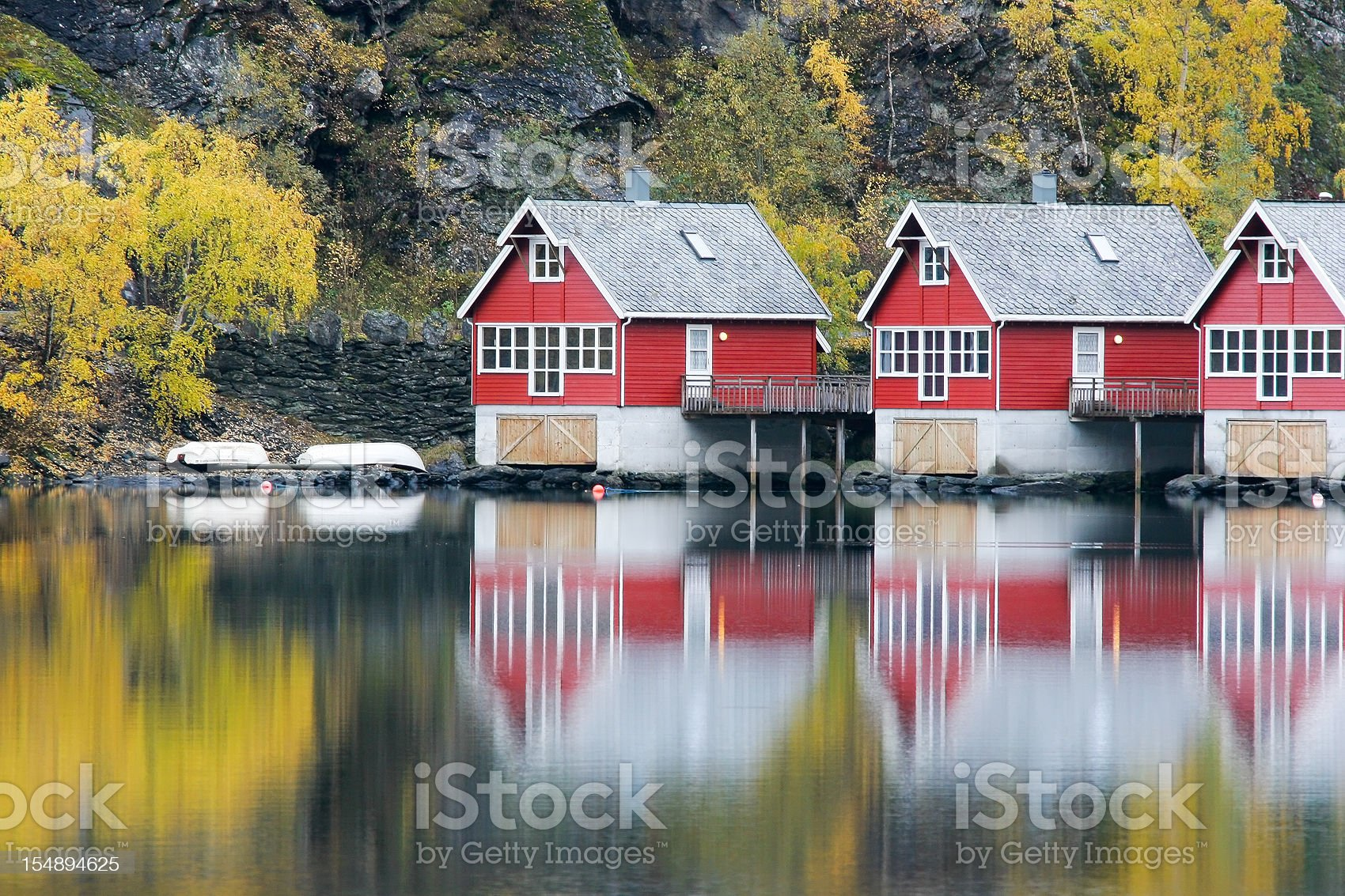 Fishing Huts royalty-free stock photo