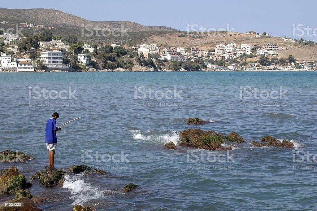 Fishing In Algeria stock photo