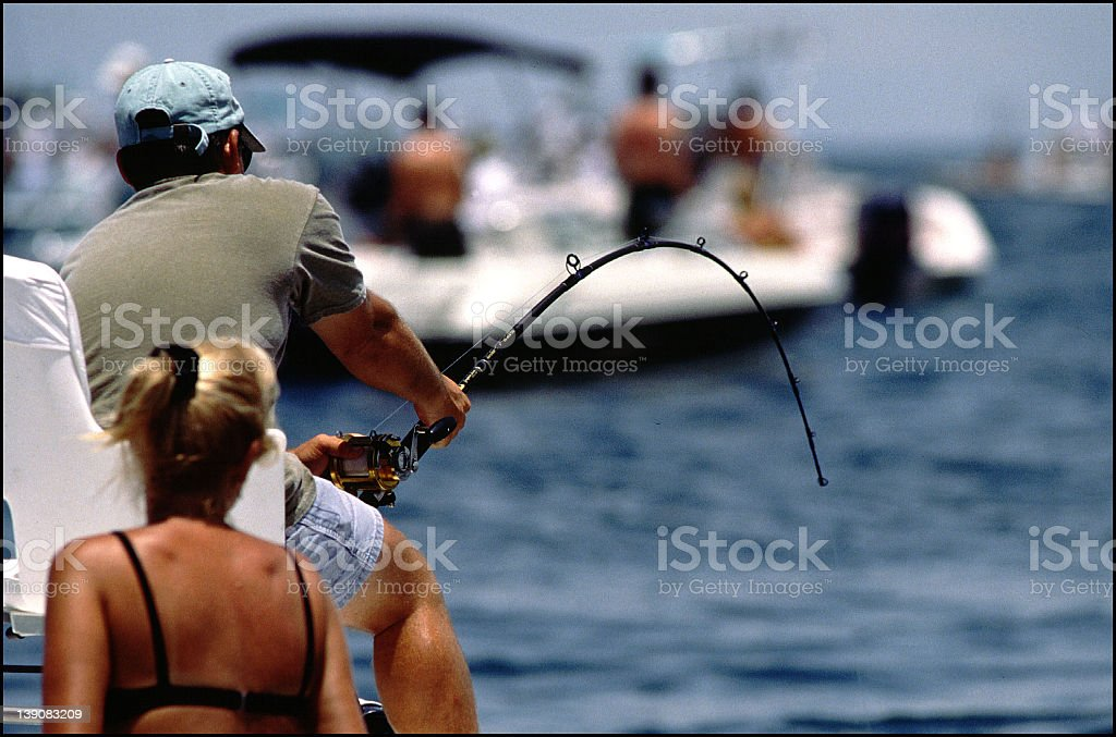 Fishing in Boca Grande Pass, FL. royalty-free stock photo