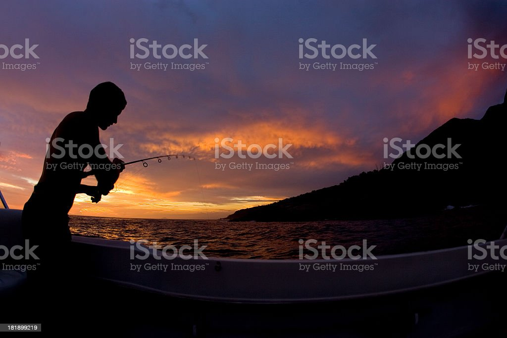 Fishing in Brazil royalty-free stock photo
