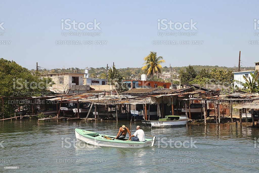 Fishing in Cuba royalty-free stock photo