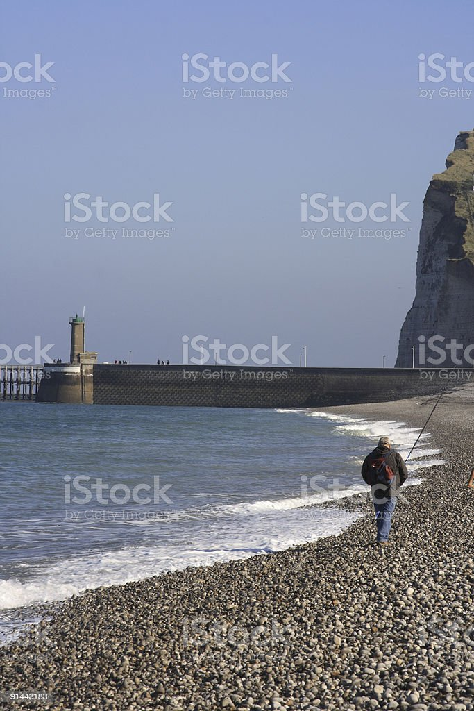 Fishing In Fecamp Normandy royalty-free stock photo