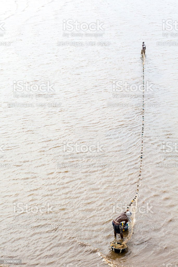 Fishing In Freetown stock photo