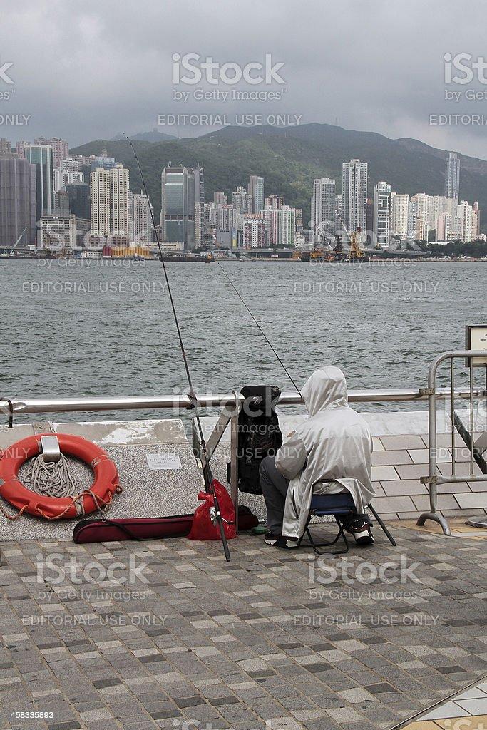 Pesca a Hong Kong foto stock royalty-free