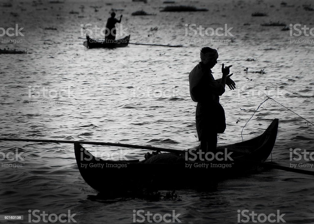 Fishing in the Backwaters stock photo