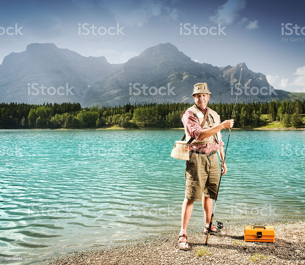 Fishing in the Mountains royalty-free stock photo