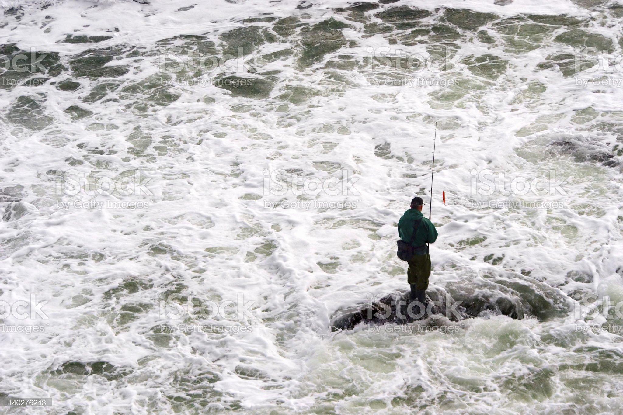 Fishing in the Turbulence royalty-free stock photo