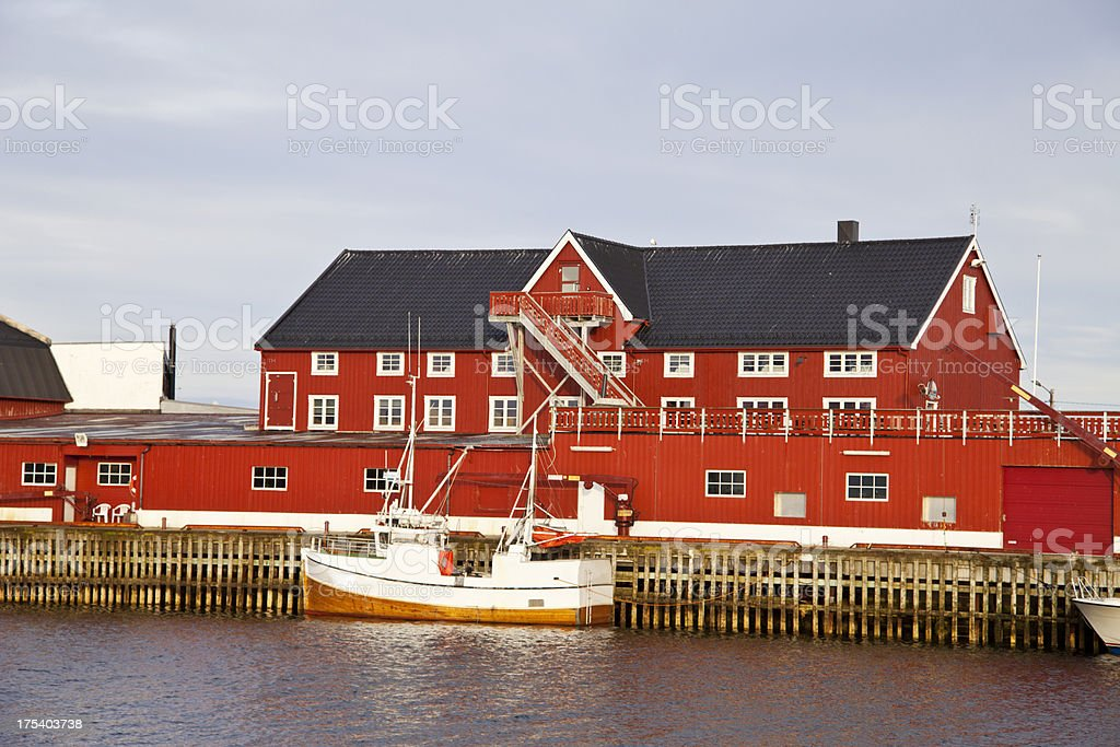 Fishing industri in the north of Norway. royalty-free stock photo