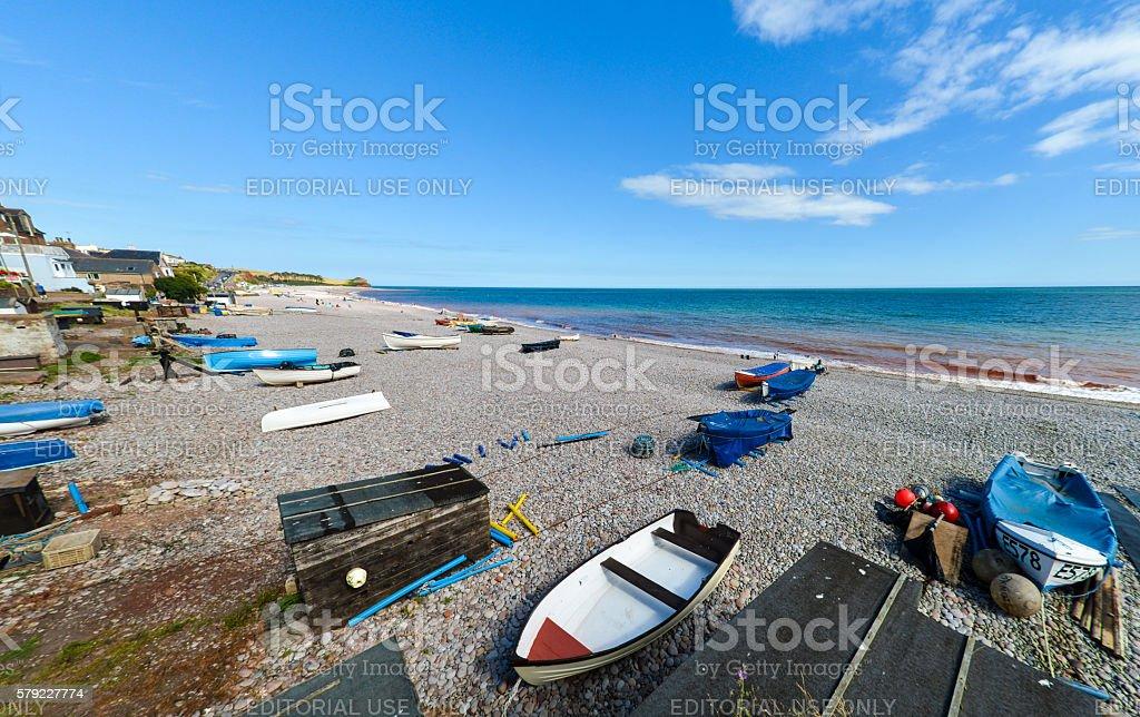 Fishing Industry Budleigh Salterton in Devon stock photo