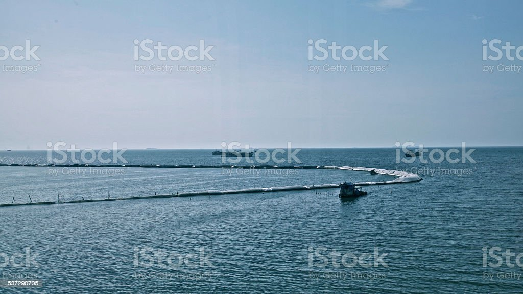 Fishing Industry Fish Farm Indonesia Sea Ships Seafood Catch Bay stock photo