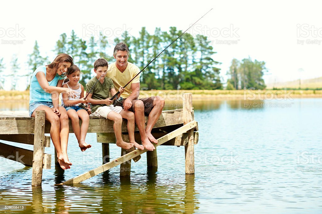 Fishing is always a way of relaxing stock photo