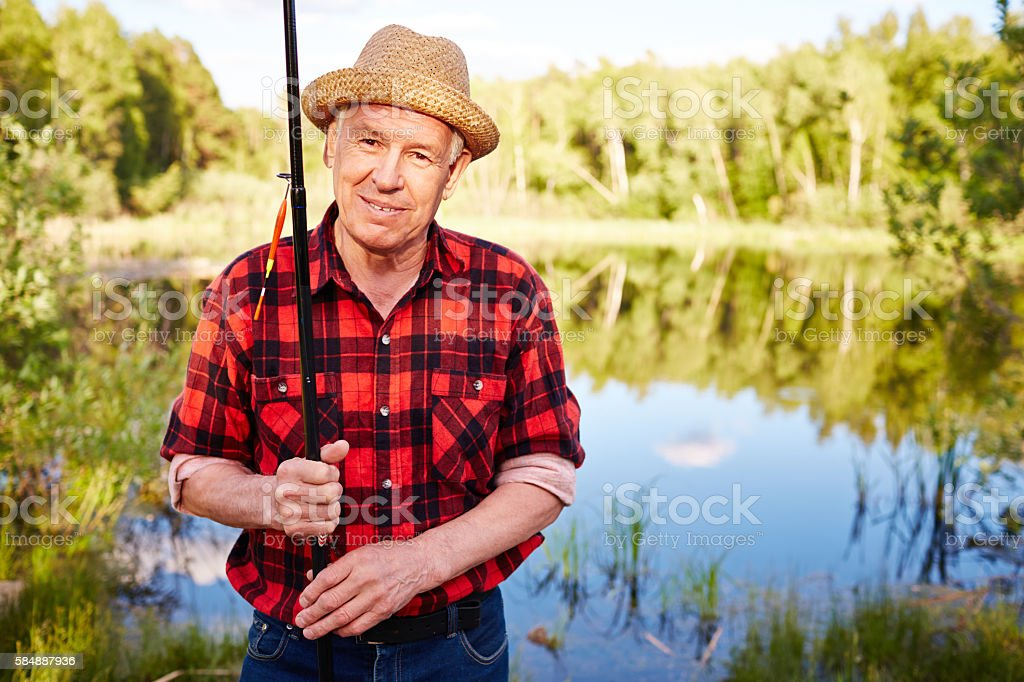 Fishing is my life stock photo
