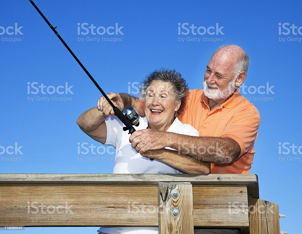 Fishing Lessons royalty-free stock photo