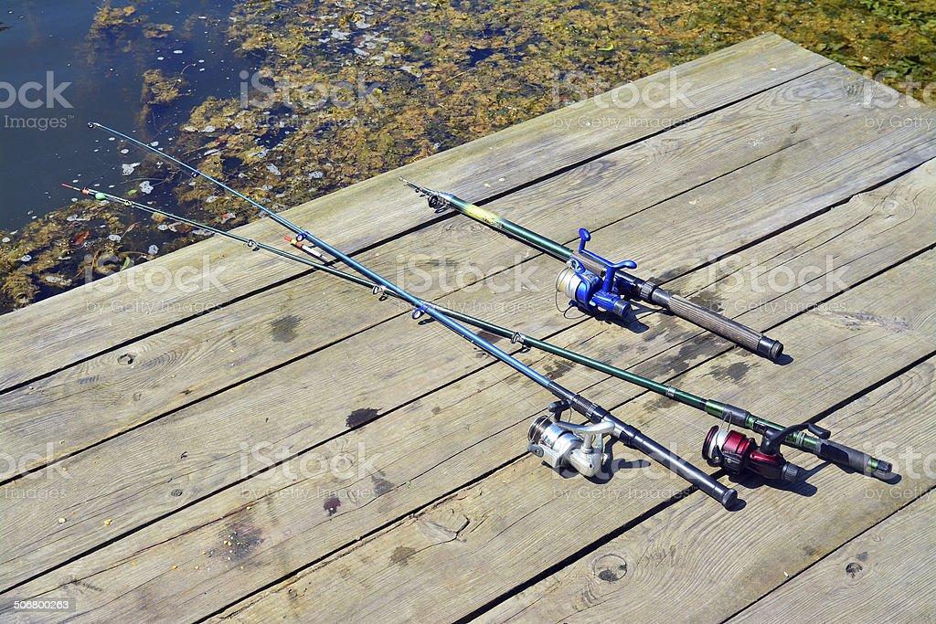 fishing lines stock photo