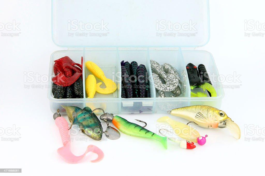 Fishing luer Action Polychromatic. royalty-free stock photo