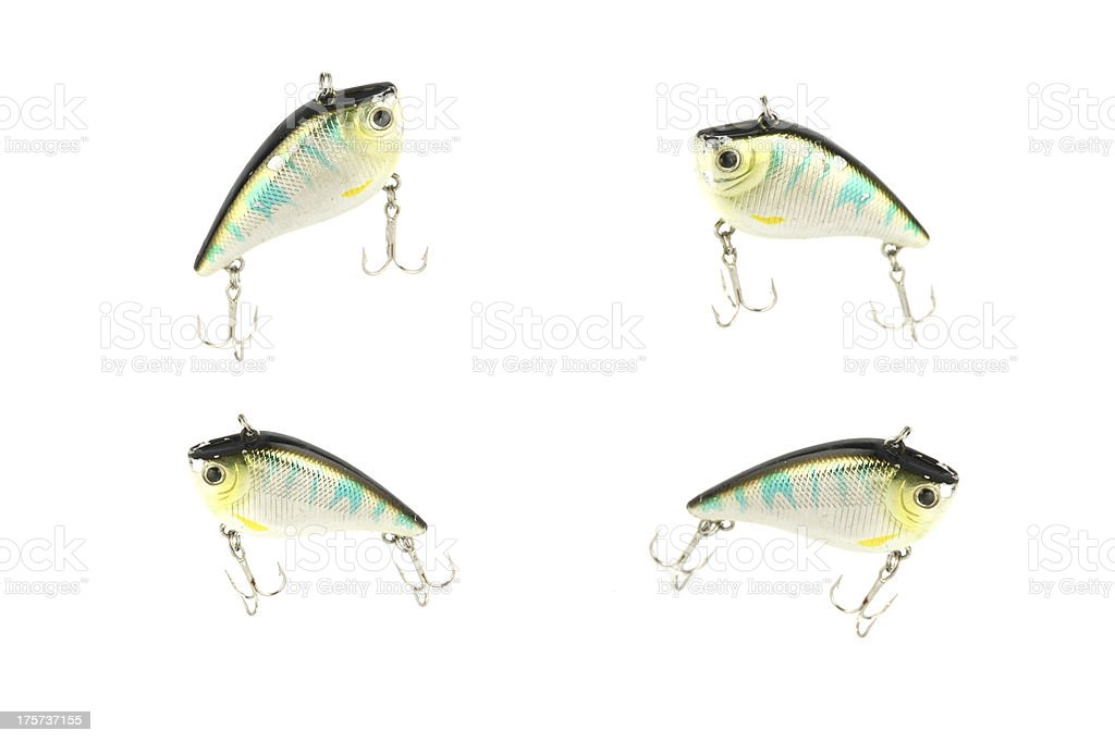 Fishing luer four Action. royalty-free stock photo