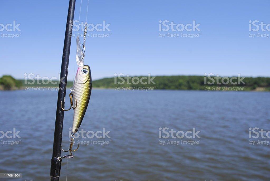 Fishing Lure Background royalty-free stock photo
