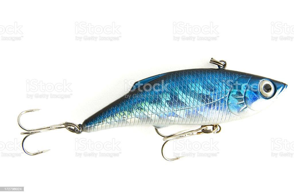fishing lure blue stock photo