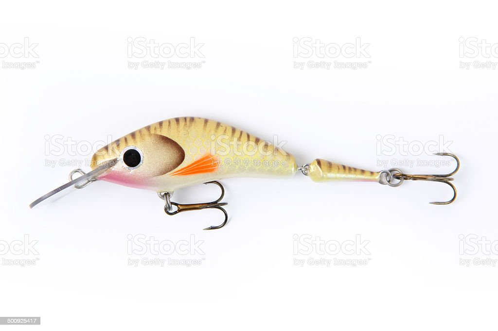 Fishing lure isolated on white - Stock Image royalty-free stock photo