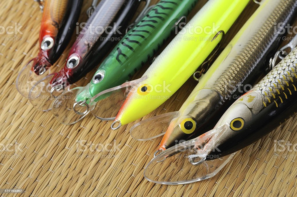 fishing lures royalty-free stock photo