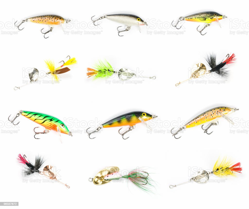 XXL Fishing Lures stock photo