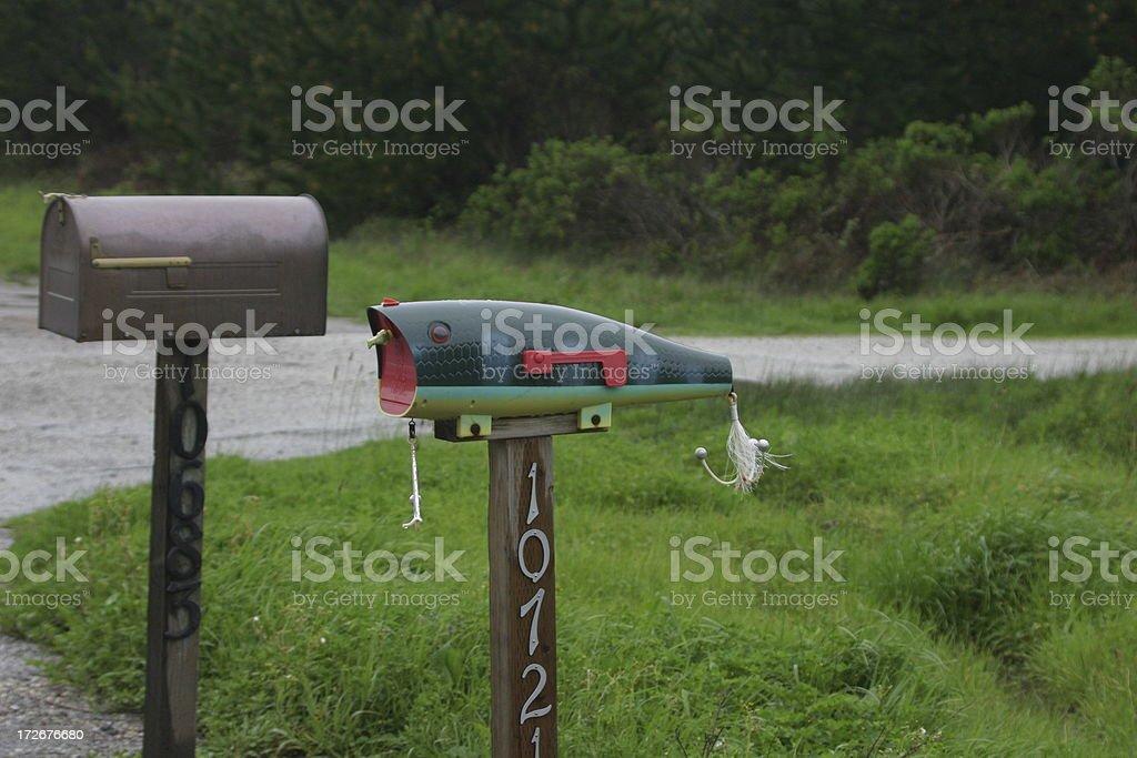 fishing mail box stock photo