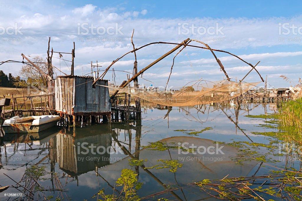 Fishing near Ulcinj stock photo