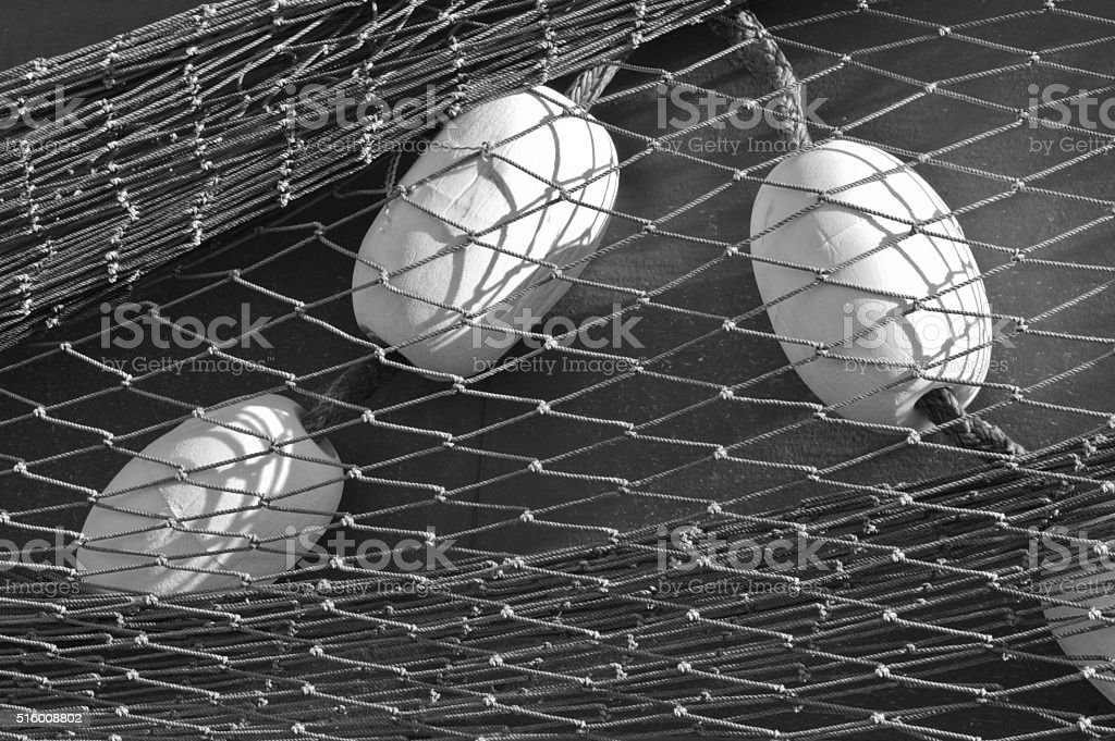 Fishing net and corks royalty-free stock photo