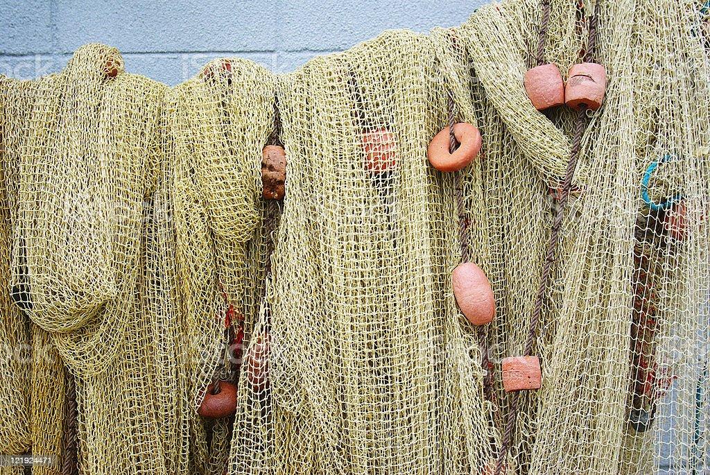 fishing net close up stock photo