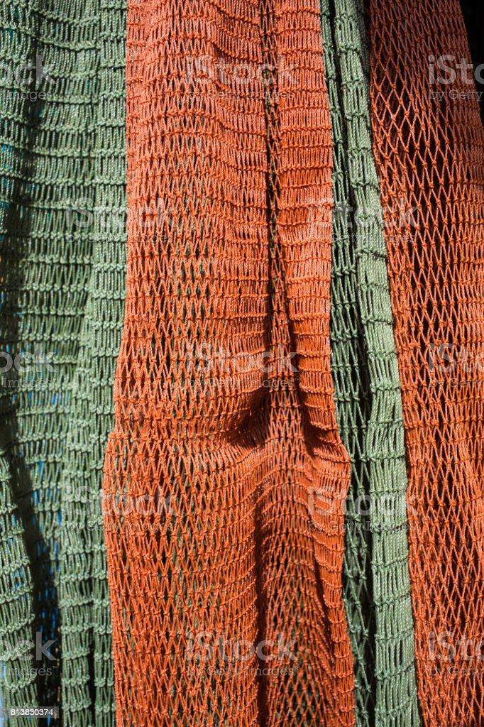 Fishing net, Close up stock photo