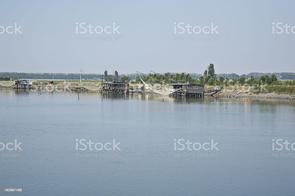 Fishing net, hut, outdoor royalty-free stock photo