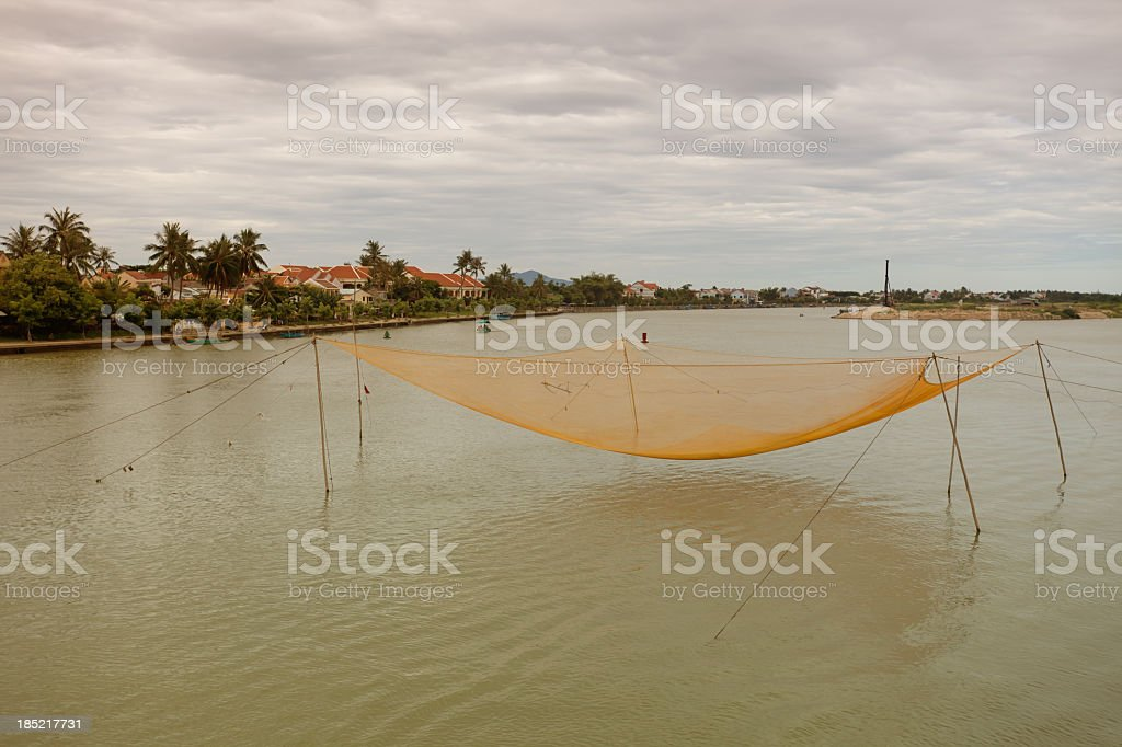 Fishing net in Vietnam royalty-free stock photo