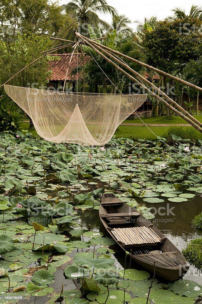 fishing net vietnam village royalty-free stock photo