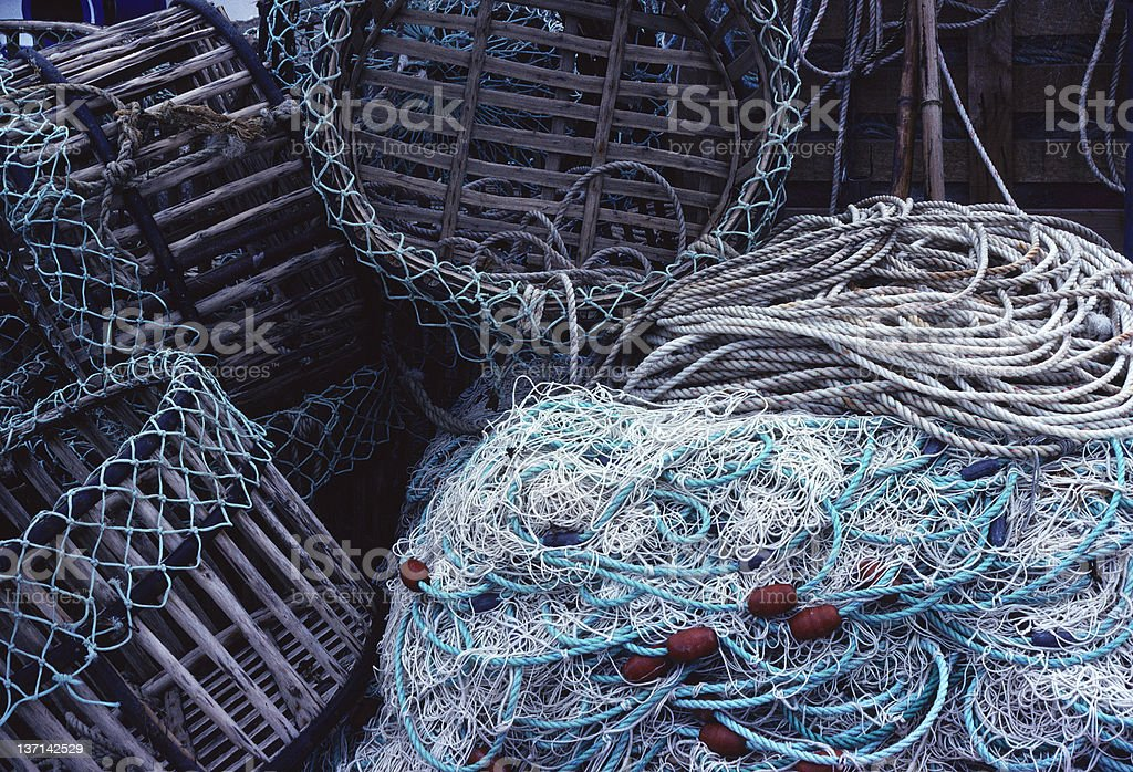 Fishing Nets and Traps, France stock photo